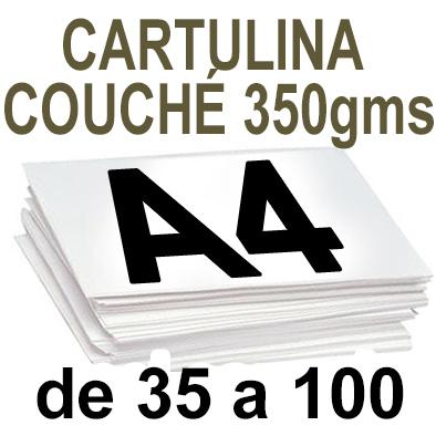 Papel Especial CARTULINA COUCHÉ 350 grm de 35 A 100  copias