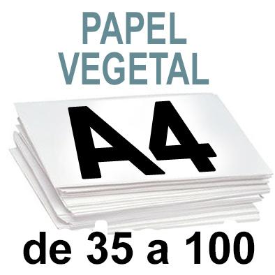 Papel Especial VEGETAL de 35 A 100  copias