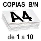 A4 Copias Blanco y Negro de 1 a 10