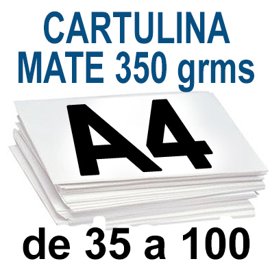 Papel Especial CARTULINA MATE 350 grm de 35 A 100  copias