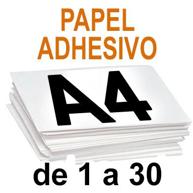 Papel Especial ADHESIVO  de 1 A 30 copias