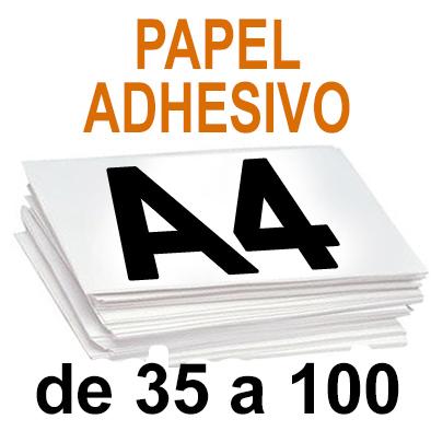 Papel Especial ADHESIVO de 35 A 100  copias