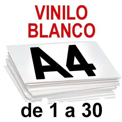 Papel Especial VINILO BLANCO  de 1 a 30 copias