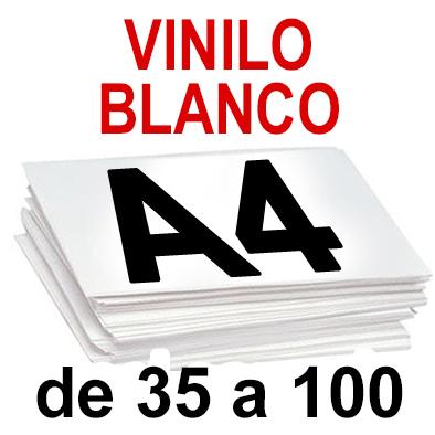 Papel Especial VINILO BLANCO  de 35  a 100 copias