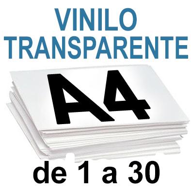 Papel Especial VINILO TRANSPARENTE  de 1 a 30copias