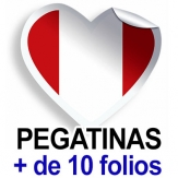 Pegatinas. Más de 10 folios (A4)
