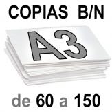 A3 Copias Blanco y Negro de 60 a 150