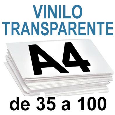 Papel Especial VINILO TRANSPARENTE  de 35 a 100copias