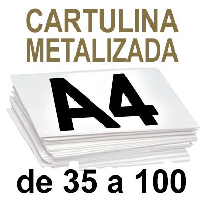 Papel Especial CARTULINA METALIZADA de 35 a 100 copias