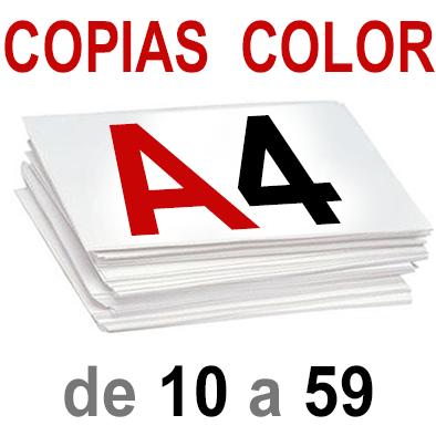 A4 Copias Color de 10  a 59