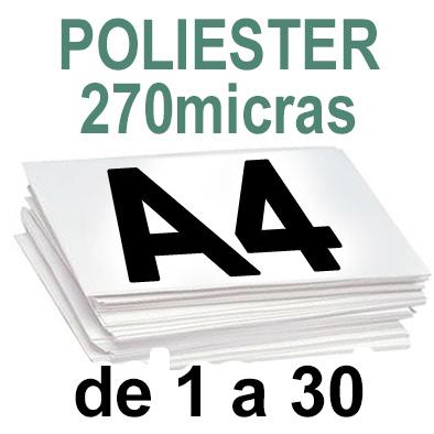 Papel Especial POLIESTER de 1 a 30 copias