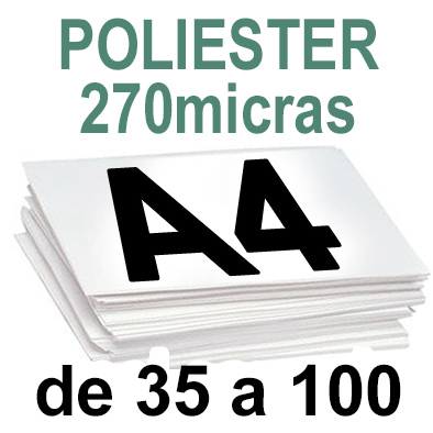 Papel Especial POLIESTER de 35 a 100 copias