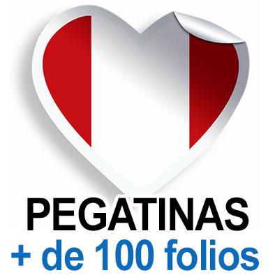 Pegatinas. Más de 100 folios (A4)