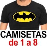 Camisetas. De 1 a 8. Sublimado ó 1 color de Vinilo (A4 máximo)