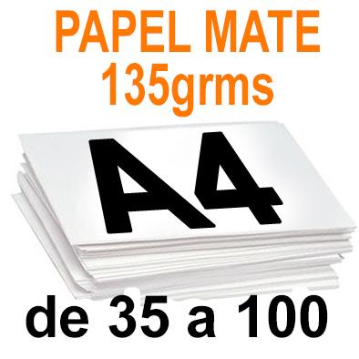 Papel especial DIGITAL MATE 120grms A4  de 35 a 100
