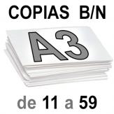 A3 Copias Blanco y Negro de 11 a 59