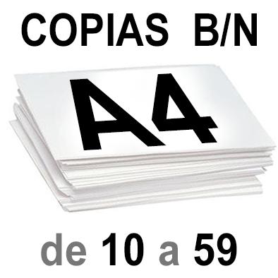 A4 Copias Blanco y Negro de 10 a 59
