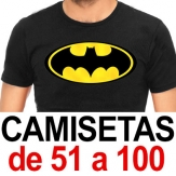 Camisetas. De 51 a 100. Sublimado ó 1 color de Vinilo (A4 máximo)