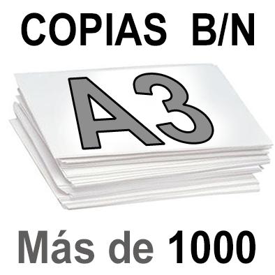 A3 Copias Blanco y Negro más de 1000