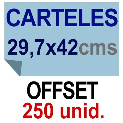 250 Cartel A3- 29,7x42 - Impresión Offset 1 cara- Papel offset o couché