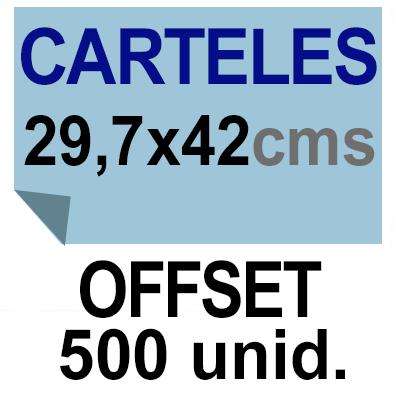 500 Cartel A3- 29,7x42 - Impresión Offset 1 cara- Papel offset o couché