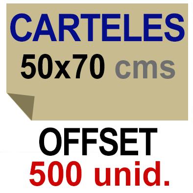 500 Cartel 50x70- Impresión Offset 1 cara- Papel offset o couché