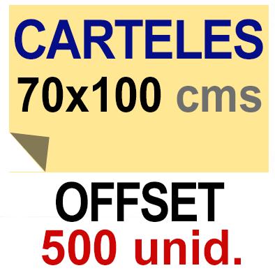 500 Cartel 70x100 - Impresión Offset 1 cara- Papel offset o couché