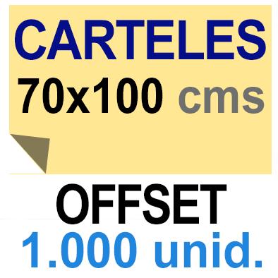 1,000 Cartel 70x100 - Impresión Offset 1 cara- Papel offset o couché