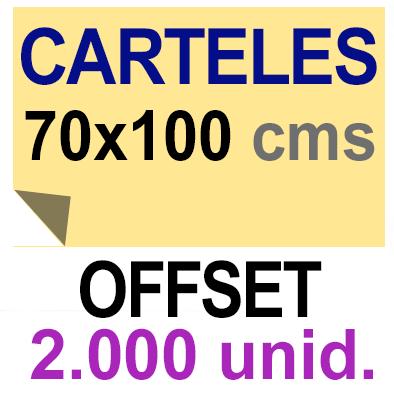 2,000 Cartel 70x100 - Impresión Offset 1 cara- Papel offset o couché