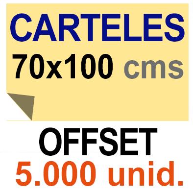 5,000 Cartel 70x100 - Impresión Offset 1 cara- Papel offset o couché