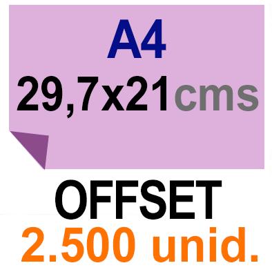 2,500 -A4- 29,7x21 - Sin plegar - Impresión Offset Color en 135 grms - 1 ó 2 caras