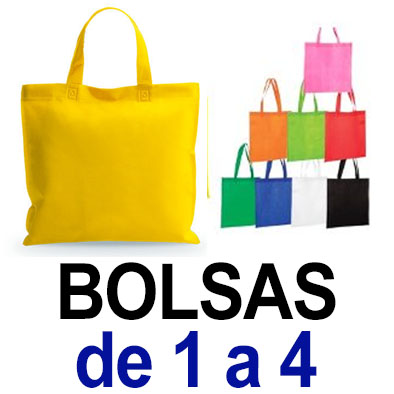 Bolsas. De 1 a 4. Sublimado ó 1 color de vinilo
