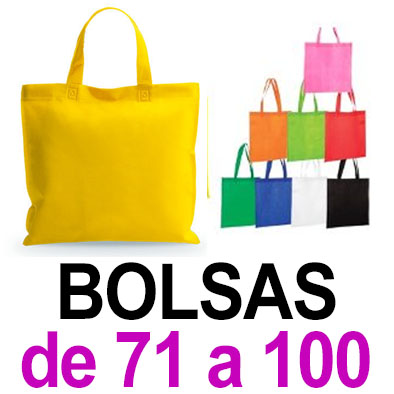 Bolsas. De 71 a 100. Sublimado ó 1 color de vinilo