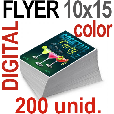 200 Flyer 10x15 - 50 Copias DIGITAL en 90 grms -1 cara + Cortes