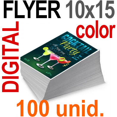 100 Flyer 10x15 - 25 Copias DIGITAL Color en 90 grms -1 cara + Cortes