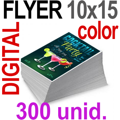 300 Flyer 10x15 - 75 Copias DIGITAL Color en 90 grms -1 cara + Cortes