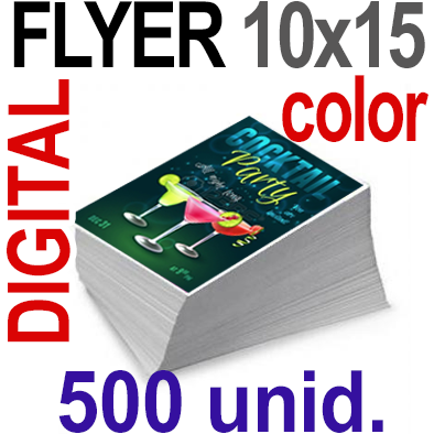500 Flyer 10x15 - 125 Copias DIGITAL Color en 90 grms -1 cara + Cortes