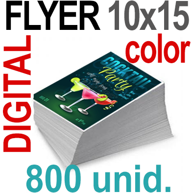 800 Flyer 10x15 - 200 Copias DIGITAL Color en 90 grms -1 cara + Cortes