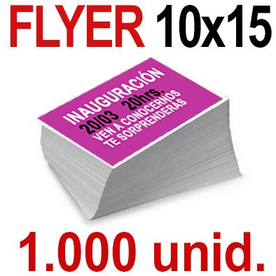 1,000   Flyer  10x15 -A6- Impresión Offset Color en 135 grms - 1 ó 2 caras