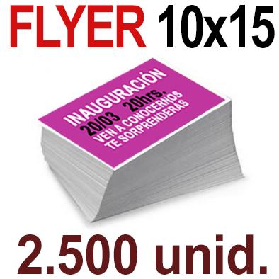 2,500 Flyer  10x15 -A6- Impresión Offset Color en 135 grms - 1 ó 2 caras