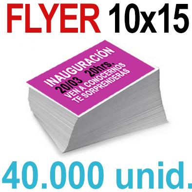 40,000  Flyer  10x15 -A6- Impresión Offset Color en 135 grms - 1 ó 2 caras