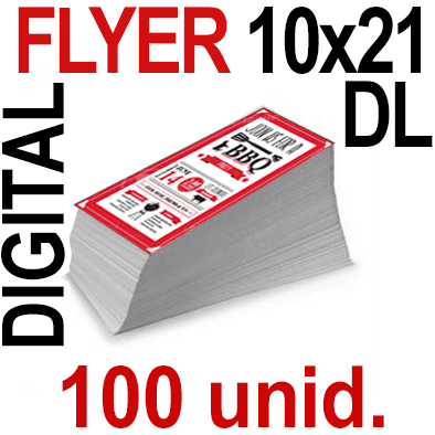 100 Flyer DL 10x21- 25 Copias Digital Color en 90 grms -1 cara + Cortes