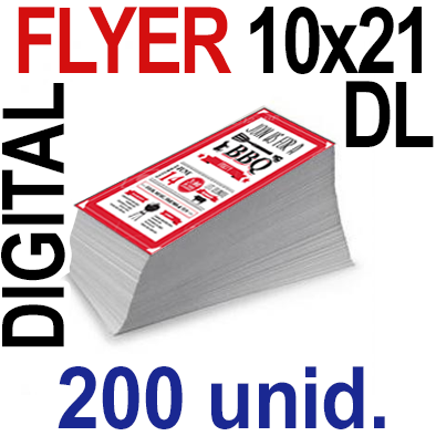 200 Flyer DL 10x21- 50 Copias Digital Color en 90 grms -1 cara + Cortes