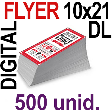 500 Flyer DL 10x21- 125 Copias Digital Color en 90 grms -1 cara + Cortes