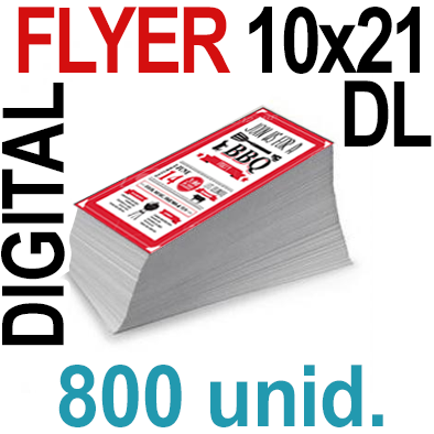 800 Flyer DL 10x21- 200 Copias Digital Color en 90 grms -1 cara + Cortes