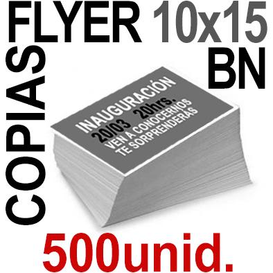 500 Flyer 10x15 - 125Copias ByN  en 90 grms -1 cara + Cortes