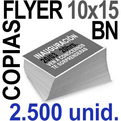 2,500 Flyer 10x15 - 625Copias ByN  en 90 grms -1 cara + Cortes