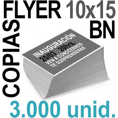 3,000 Flyer 10x15 - 750Copias ByN  en 90 grms -1 cara + Cortes