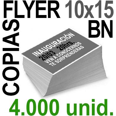 4,000 Flyer 10x15 - 1,000 Copias ByN  en 90 grms -1 cara + Cortes