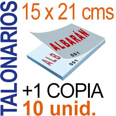 Autocopiativo -  15x21 cms -A5-  1,000 unidades Original + Copia - agrupadas en 10 Talonarios - Numerados